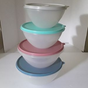 Tupperware Wonderlier Bowls, Country Pastels - VTG